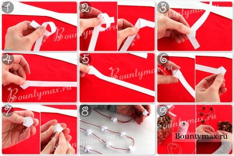 Как сделать новогодние гирлянды своими руками