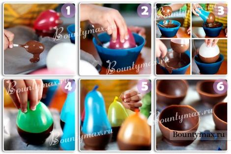 Шоколадные вазочки своими руками