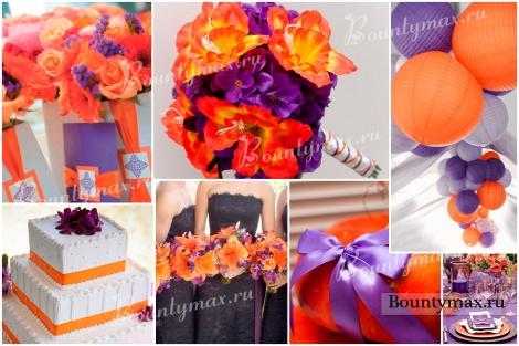 Фиолетовая свадьба - возможности комбинирования