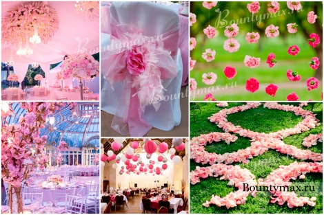 Нежная свадьба в розовом цвете