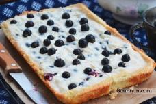 Пирог с черной смородиной и белым шоколадом