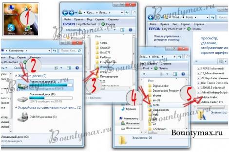 Как установить шрифт в word, в фотошоп, в windows