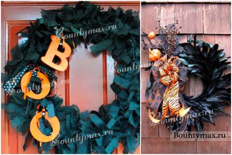 Как украсить дом на хэллоуин: венок на дверь своими руками