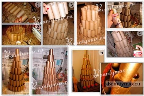 Как сделать елку из картона своими руками на новый год