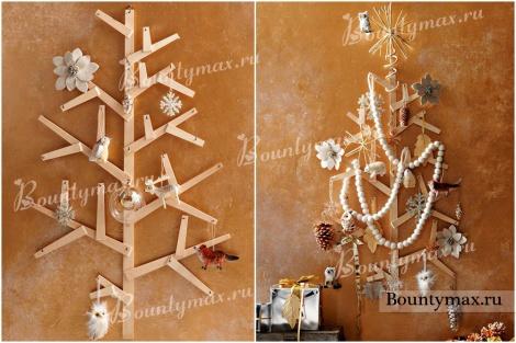 Елка на стене: необычная елка своими руками