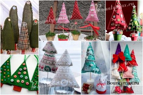 Красивые елки из ткани своими руками на новый год