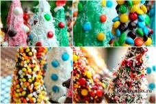 Новогодний десерт: вафельные - елочки