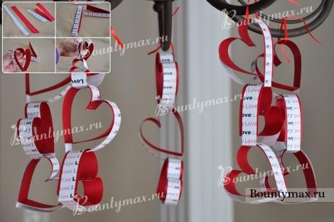 Гирлянда из сердечек своими руками на день святого Валентина