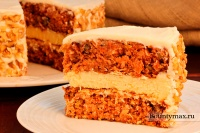 Морковный торт с кремом из сливочного сыра