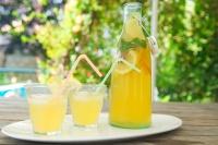Холодный чай с лимоном и апельсином