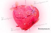 Подарок своими руками: сердце из ниток