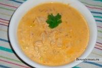 Сырный суп с курицей и кукурузой