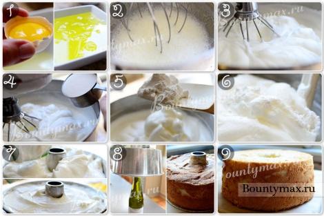 """Как  правильно испечь торт """"Пища ангела"""" в домашних условиях"""