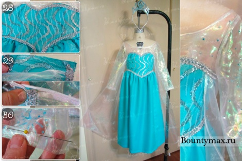 Как сшить платье Эльзы из холодного сердца для девочки своими руками