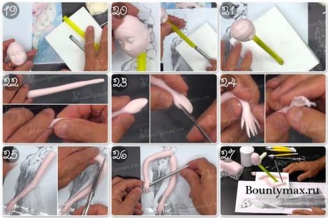 Мастер-класс как сделать 3д торт Эльза своими руками