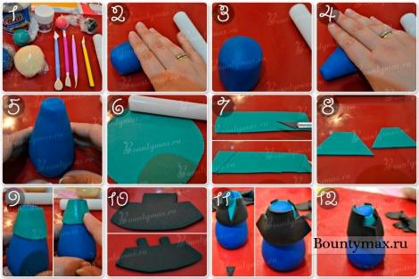 Как сделать фигурку Анны из мастики на торт своими руками