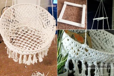 Как сплести подвесное кресло макраме своими руками мастер класс
