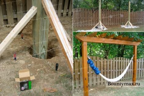 Как сделать каркас для гамака с навесом и крышей