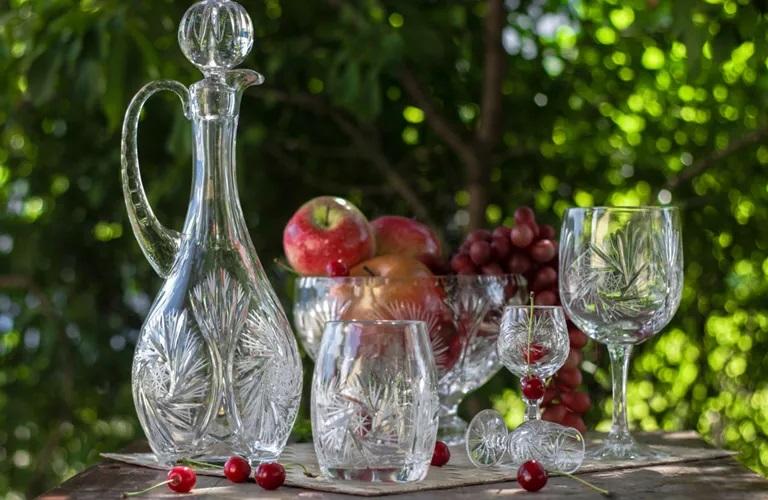 Столовая посуда — уникальное и потрясающее хрустальное стекло